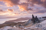 Winter Sunrise Above the Old Man of Storr on the Isle of Skye  Scotland Winter (December) 2013