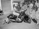 Betty Lemitte on a 499 cc Rudge Ulster motorcycle  1930s