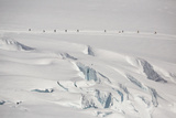Climbers on Mount Mckinley in Denali National Park
