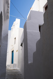 Whitewashed Buildings with Narrow Lanes in Greece
