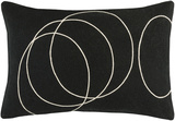 Solid Bold Down Fill Lumbar Pillow by Bobby Berk - Black