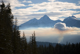 A Forest Fire Outside Golden  British Columbia