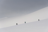Tourists Walking on the Snow in Paradise Bay  Antarctica