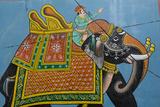 An Outdoor Mural in Jodhpur's Blue City
