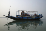 A River Ferry Traveling Through India's Sundarbans Region