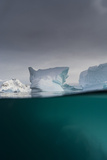 Over-Under View of an Iceberg  Skontorp Cove  Paradise Bay  Antarctica