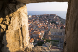 Franciscan Monastery and Rooftops by Sea in Dubrovnik  Croatia