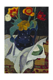 Still life with tulips in a blue pot 1907