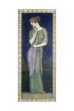 Helena Tafelbild auf Holz mit einem Vers aus der Illias