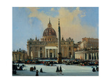 Papal Benediction  Piazza San Pietro (detail  see also Image ID 25167)