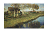 Autumn morning at the canal 1895
