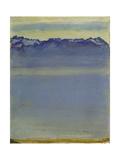 Lake Geneva with Savoyer Alps 1907