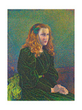 Young Woman in Green Dress 1893
