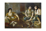 Three arab women (Study for the oil painting)
