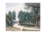 The Road of Saint-Mammes - In the morning (Le Chemin de Saint-Mammes - Le matin) 1890