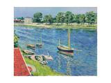 Die Seine bei Argenteuil  Boote vor Anker La Seine a Argenteuil  bateaux au mouillage 1883