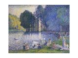 Der See im Bois de Bologne Le Lac du Bois de Boulogne 1899