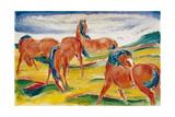 Horses grazing III (Weidende Pferde III) 1910