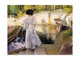 Maria looking at the Fishes  Granja (Maria mirando a los Peces  Granja) 1907