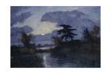 moonlit night  Teufelsmoor About 1900