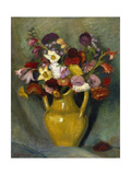Bunch of flowers in a yellow clay jug 1928