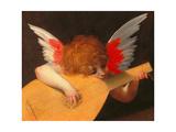 Angel making music