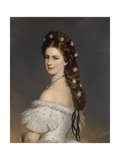 Empress Elizabeth of Austria with Diamond stars in her hair Ca 1860