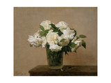Vase with white Roses 1885