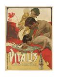 Werbung für das Mineralwasser 'Vitalis' 1895
