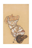 Female Torso in Lingerie and Black Stockings 1917