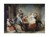 Peasants dancing by an inn