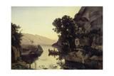 Landscape near Riva  Lake Garda (Vue prise a Riva) 1835