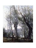 A Barge passing behind Trees on the Shore (Le Batelier passant derriere les Arbres de la Rive)