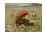 Der rote Schirm Um 1860