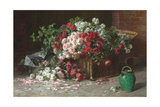 Ein Korb mit Rosen Um 1890