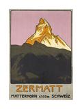 Zermatt Plakatwerbung für Zermatt in der Schweiz 1908