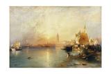 Venedig bei Sonnenuntergang mit der Santa Maria della Salute und dem Dogenpalast 1902