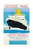 Werbeplakat für den Königlichen Postdienst nach nach Südamerika Um 1930