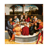 Altarpiece  central panel: the Last Supper with Luther amongst the Apostles 1546 - 47