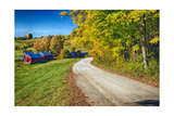 Winding Country Road with a Farm Reading Vermont