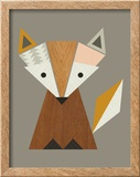 Geometric Fox Reproduction encadrée par Little Design Haus