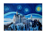 Starry Night in Neuschwanstein - Romantic Castle