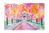 Taj Mahal - Colorful Crown Of The Palace And Love