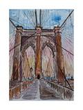 Brooklyn Bridge New York City Pedestrian Walk