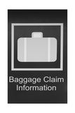 Baggage Claim Airport sign