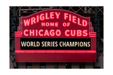 Wrigley Field Marquee Cubs World Series Champs 201
