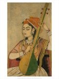A Lady Playing the Tanpura  1735