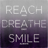 Reach  Breathe  Smile (purple)