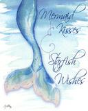 Mermaid Tail I (kisses and wishes) Reproduction d'art par Elizabeth Medley