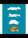 Sleeping Animals Set 3 Unicorn and Polar Bear Cow and Llama Wild Animal Sleeps Sleepy Beast